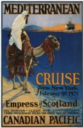 Vintage Travel Poster Mediterranean Cruise from New York
